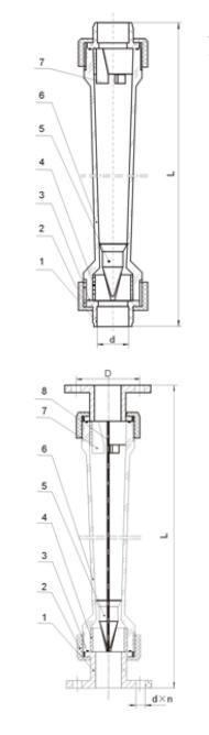 塑管浮子流量计结构